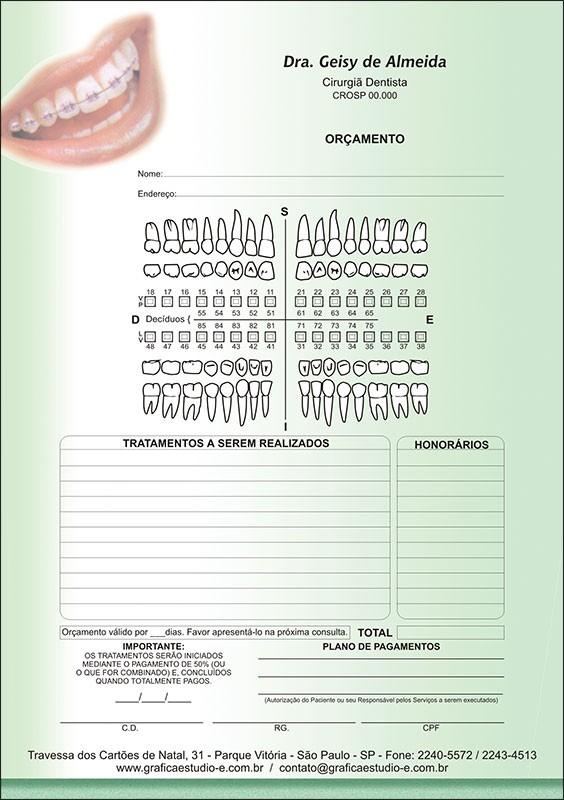 Orçamento Colorido - Modelo A - Cod: 038