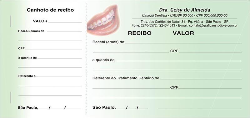 Recibo com Canhoto Colorido - Cod: 038