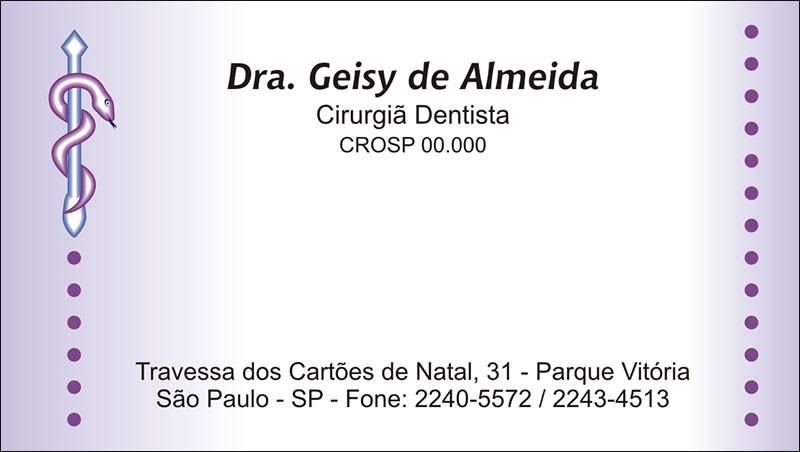 Cartão de Visita com Verniz - Cod: 040