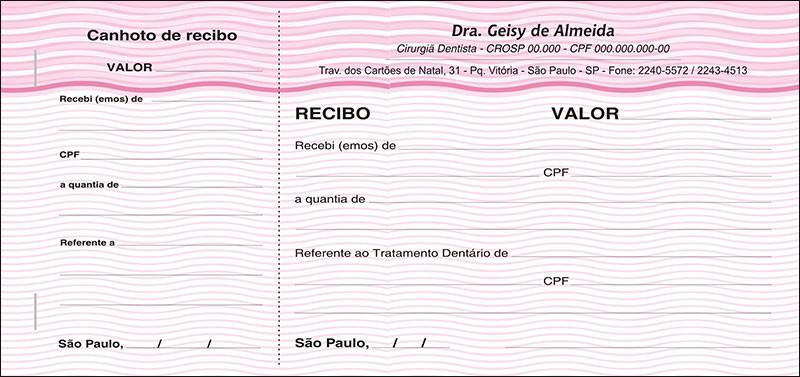Recibo com Canhoto Colorido - Cod: 042