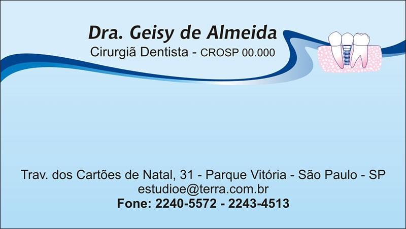 Cartão de Visita com Verniz - Cod: 043