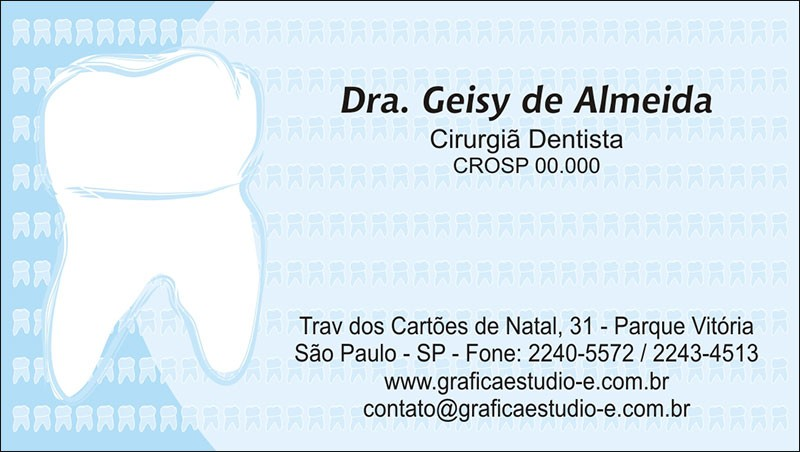Cartão de Visita com Verniz - Cod: 045