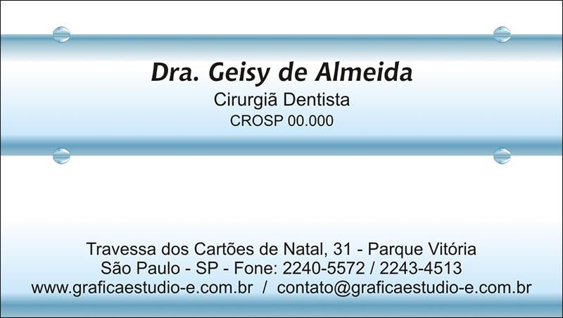 Cartão de Visita com Verniz - Cod: 047