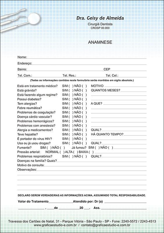 Anamnese Colorida - Cod: 048