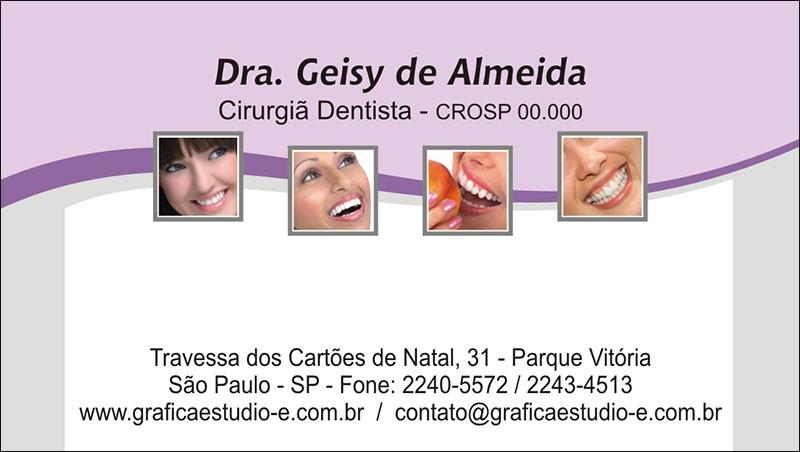 Cartão de Visita com Verniz - Cod: 054