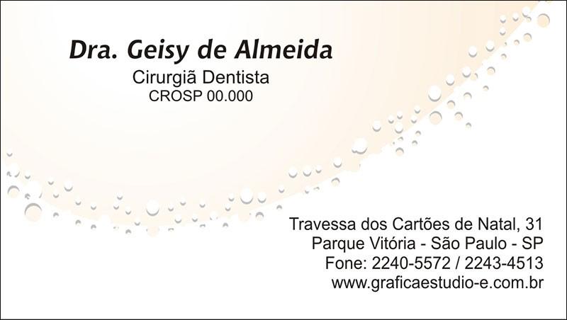 Cartão de Visita com Verniz - Cod: 061
