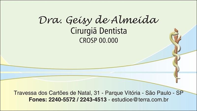 Cartão de Visita com Verniz - Cod: 062