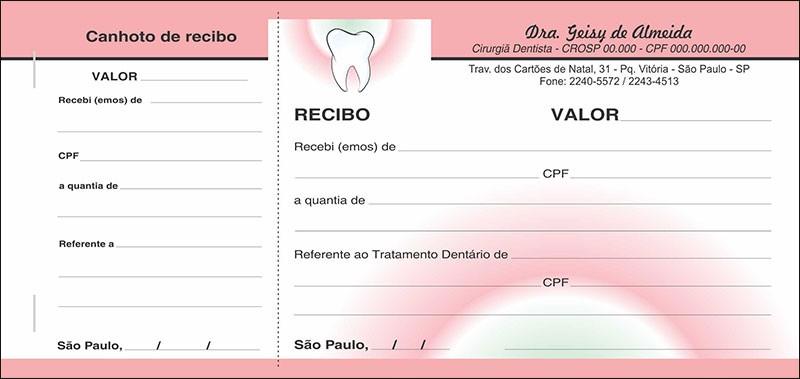 3 Blocos de Recibo com Canhoto Colorido - Cod: 068