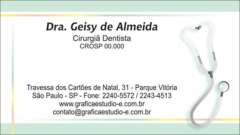 Cartão de Visita com Verniz - Cod: 102