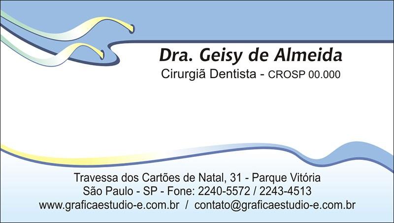 Cartão de Visita com Verniz - Cod: 106