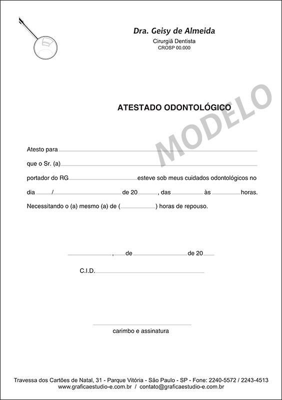 Atestado Odontológico PB - 006