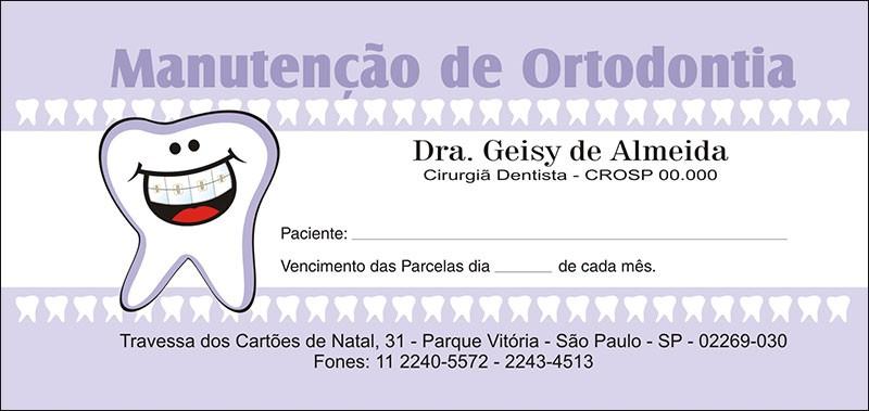100 Carnês de Ortodontia - 007 - Capa Lilás