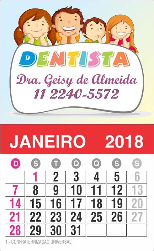 Imãs de Geladeira com Calendário para Dentistas - 027 C-CAL