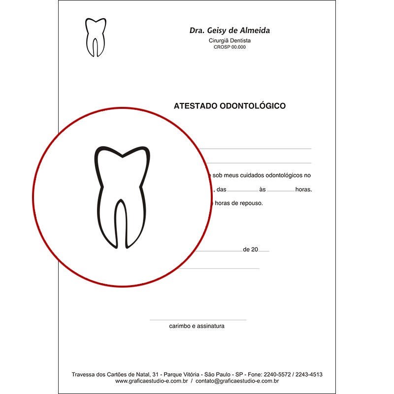 Atestado Odontológico PB - 004
