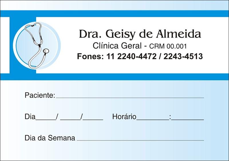 Blocos de Próxima Consulta para Médicos - Cod: M015 Azul